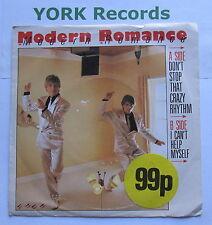 "MODERN ROMANCE - Don't Stop That Crazy Rhythm - Ex Con 7"" Single WEA ROM 3"