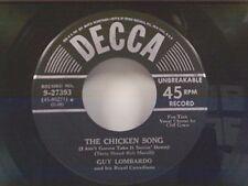 """GUY LOMBARDO """"THE CHICKEN SONG / VELVET LIPS"""" 45 NEAR MINT"""