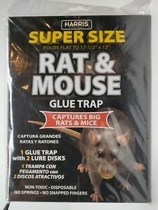Harris Supersized Rat & Mouse Glue Trap. Extra Strength Non-Toxic w/ lure disk