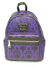 Disney Parks Loungefly Haunted Mansion Print mini backpack wallpaper print liner