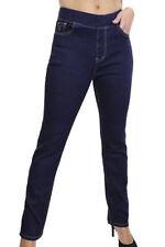 Denim Straight Leg Mid Rise Regular Size Jeans for Women