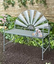 Rustic Farmhouse Windmill Garden Bench Metal
