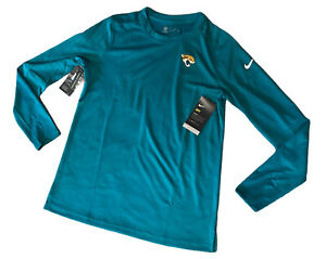 Nike On Field Dri Fit NFL Jacksonville Jaguars Womens LS Shirt Medium NWT$50