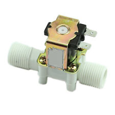 Electric Solenoid Valve Metal Plastic Diaphragm DC Water Low Viscosity Fluid 12V