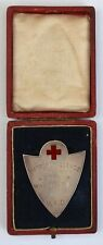 More details for very rare cased vad red cross silver hallmarked medal 1913 surrey challenge