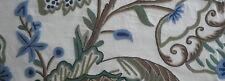 LEE JOFA Jardin Crewel Pomegranate wool cotton India blue New Remnant