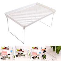 Foldable Storage Shelf Rack Holder Organizer Kitchen Bathroom Cabinet Stand 4#A