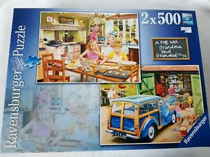 Ravensburger 2 x 500 piece jigsaw puzzles A Day with Grandma and Grandad