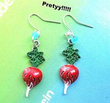 Luna Lovegood Radish Earrings HARRY POTTER +  vegetable handpainted  COLLECTIBLE