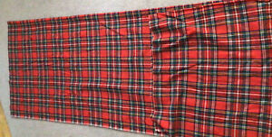 "Vintage Wool Plaid Fabric  54"" x 92"" long. Red/green/white/black/yellow Plaid"