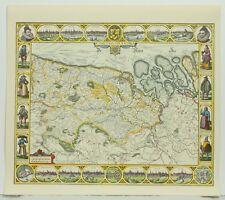 Comitatus Flandria Color 1652 Facsimile Edition Reproduction Map