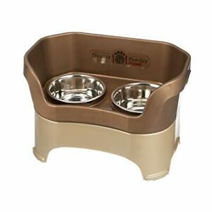 Neater Feeder Deluxe Large Dog Bronze - The Mess Proof Elevated Bowls No Slip...