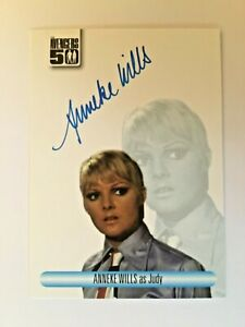 Anneka Wills JUDY The Avengers 50th Anniversary Auto Autograph Signed Card