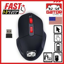 Wireless Optical Mouse 2.4GHz USB 2.0 Receiver Ergonomic Full Size for PC Laptop