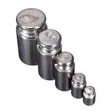 5PCS 1G 2G 5G 10G 20G gramos de Precisión kit Conjunto de Peso Escala de Calibración de Cromo K