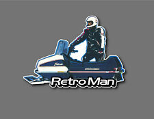 Snowmobile Custom Decal Vintage Polaris Retro Man cool!