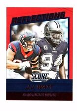 J.J. Watt, DeMarcus Ware 2016 Score, Reflections, (Red) Football Card !!