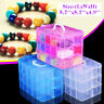 Clear Plastic 3-Layers Jewelry Bead Storage Box Container Organizer Case Craft