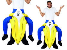 Piggyback Carry Me Banana Costume Adult Stag Night Deluxe Fancy Dress Outfit