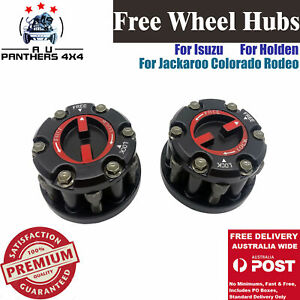 PAIR OF MANUAL FREE WHEELING HUBS FOR HOLDEN RODEO JACKAROO COLORADO ISUZU DMAX