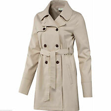 Women's No Pattern Casual Double Breasted Cotton Coats & Jackets