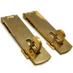 2x HASP AND STAPLE 63mm Cabinet Cupboard Door Catch Latch Padlock Bar Strap Lock