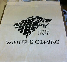 Game Of Thrones House Stark Winter is Coming Canvas Tote Shopping Bag