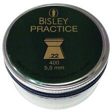 Bisley -Practice.22 -Flat heads Rifle Gun Pellets 400 Tin Airgun Target Plinking