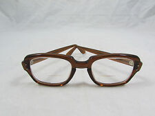 Vintage 50s Army Issue Brown Frames USS Military Hipster Nerd Bifocal Glasses