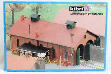 * Kibri scala N 7438  37438 Rimessa loco a 2 posti Nuova OVP