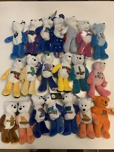 New Limited Treasures Collectible 19 State Quarter Coin Teddy Bears w/ Coins !!!