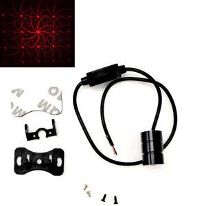 Red LED Rear Fog Light Tail Laser Brake Light Dazzle Warning Lamp A V