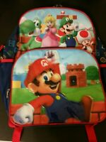 Super Mario Light Up School Backpack Book Bag Yoshi Luigi Peach Toad