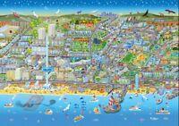 Brighton Paysage Urbain Rue Carte 1000 Pièce Puzzle 690mm x 480mm ( Jg )