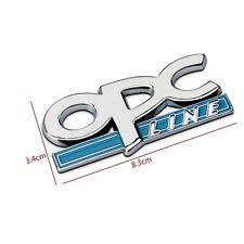 Metal 3D OPC Line Badge Sticker For Opel Corsa Meriva Zafira Astra Vectra Antara