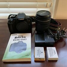Canon EOS Rebel T4i / 650D Digital SLR Camera - Black w/ EF-S IS 18-135mm Lens