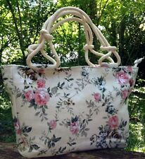 Handbag Travel Bag Holdall Vintage Womens Floral Tote Retro Beach Hobo