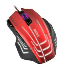 Decus Respec 5000dpi Optical PC Gaming Mouse 7-Colour Lighting USB Black/Red
