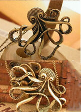 Fashion Retro Chain Girl Cute Octopus Sweater Animal Pendant Long Chain Necklace