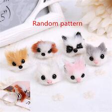 1pc Cute Animals Head Ring Cat Dog Fox Finger Ring Adjustable Kawai Gift Random