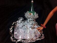 OOAK BARBIE KEN GI JOE 1:6 SCALE FURNITURE DINING ROOM WINE GLASSES ACCESSORIES