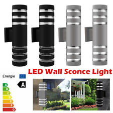 Modern LED Wall Light Up Down Lamp Garden Yard Outdoor Outside External Patio