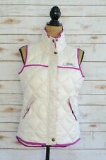 Columbia PFG Ivory PINK insulated quilted sleeveless zippered JACKET vest, S