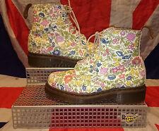 Rare liberty london * filles floral DR DOC MARTENS * blanc DITZY FLEURS * Enfants * 2