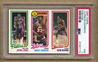 1980 Topps Basketball Magic Johnson RC Rookie John Long Ron Boone PSA 7 HIGH END