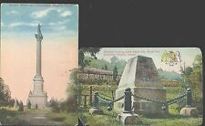 Lot of 2 War of 1812 Gen. Brock Hero Monument Queenston Heights Canada Postcard