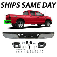 NEW Chrome - Steel Rear Bumper Assembly Replacement for 2002-2008 Dodge RAM 1500