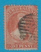 NEW ZEALAND 31A ORANGE 1864 CHALON PERF 12.5 WMK LARGE STAR NO HIDDEN FAULTS.