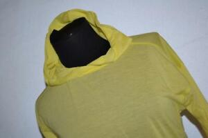 27072-a Womens Under Armour Gym Shirt Hoodie Size Small Yellow Polyester