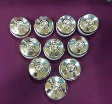 Vintage Electric Switches Brass & Ceramic Porcelain Button Vitreous Collectib#10 Antiques
